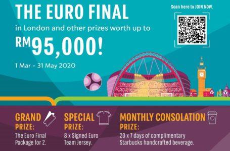 Wow! Menangi 2 Tiket Euro Final Percuma Melalui Spend & Win Starbucks!