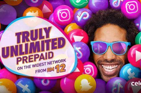 Celcom Tawar Pakej Unlimited Call & Internet Hanya RM12 Seminggu