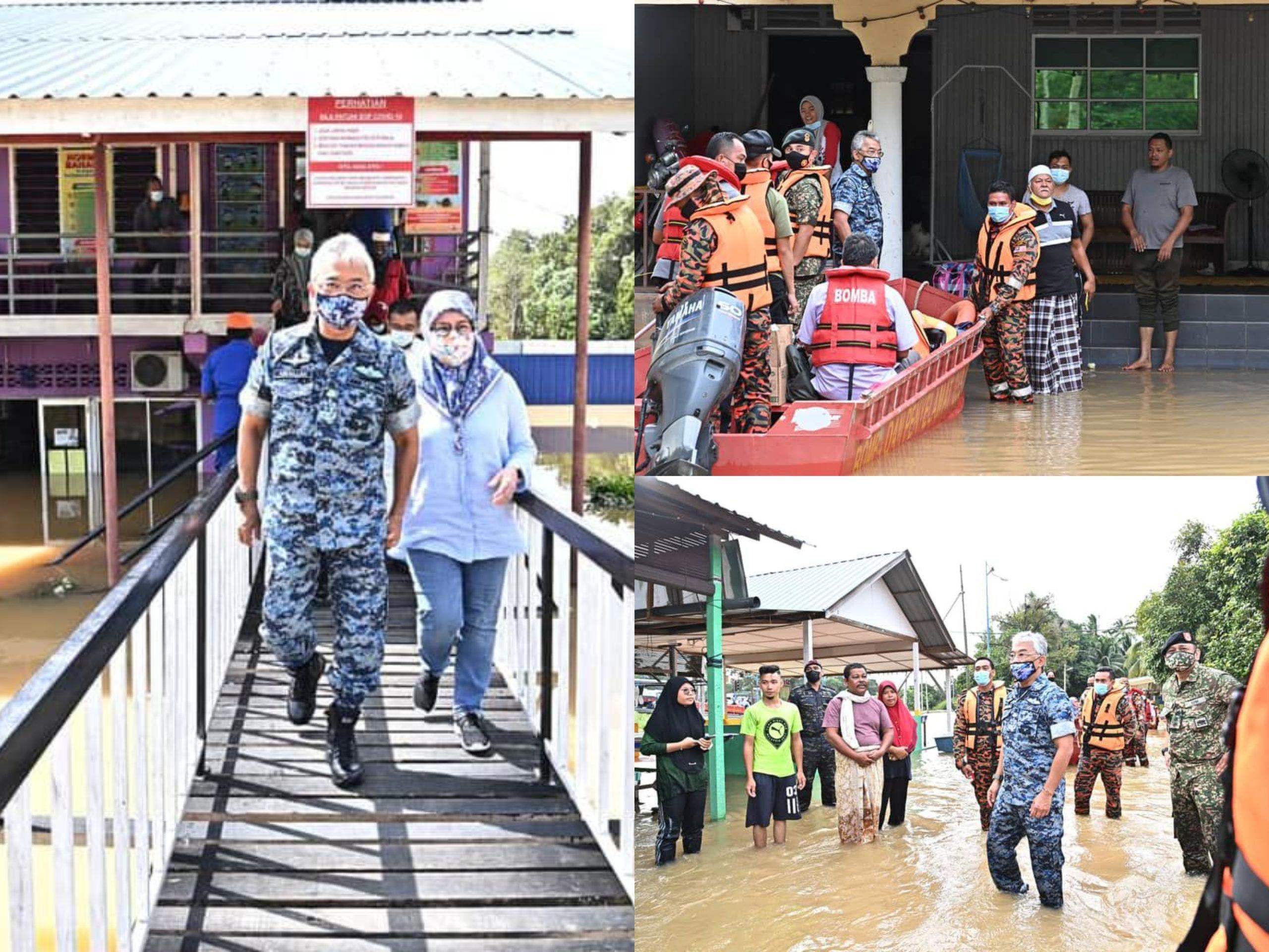 Seri Paduka Baginda Bersama Keluarga Turut Turun Padang Memberi Pertolongan & Sumbangan Kepada Mangsa Banjir