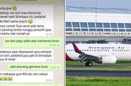 Tipu Isteri Naik Sriwijaya Air, Lelaki Pergi Bercuti Dengan Skandal Takut Nak Balik Rumah