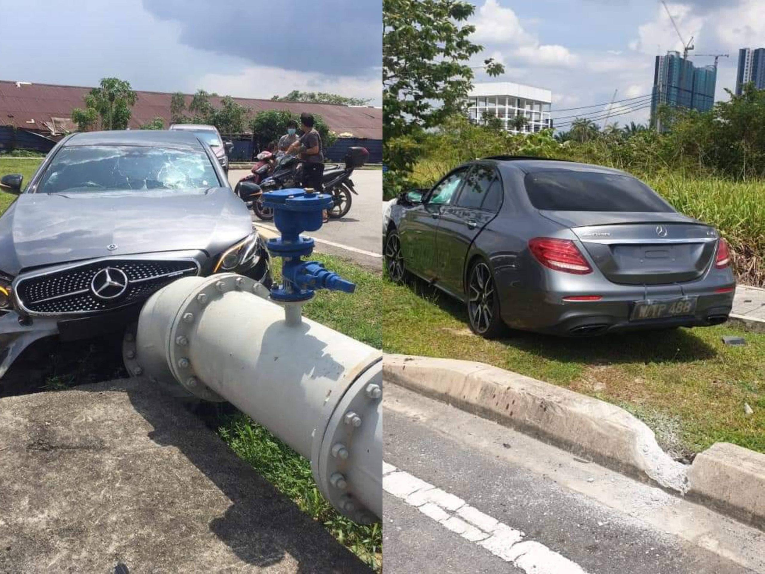 'Test Drive' Kereta Mercedes, Tapi Terciduk