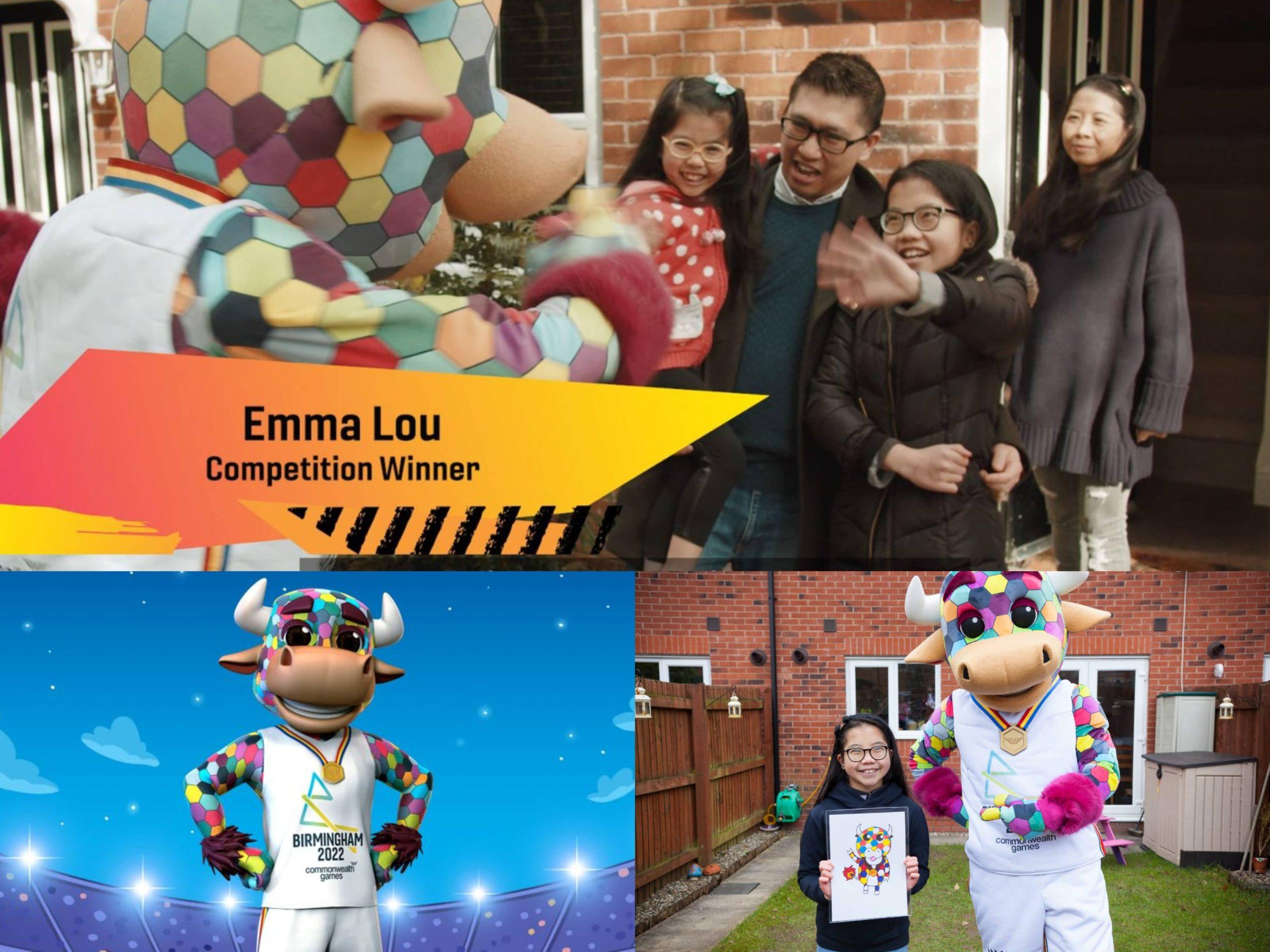 Perkenalkan Emma Lou, Si Kecil Kacukan British-Malaysia Yang Berumur 10 Tahun, Memenangi Lukisan Maskot Rasmi Sukan Komanwel 2022