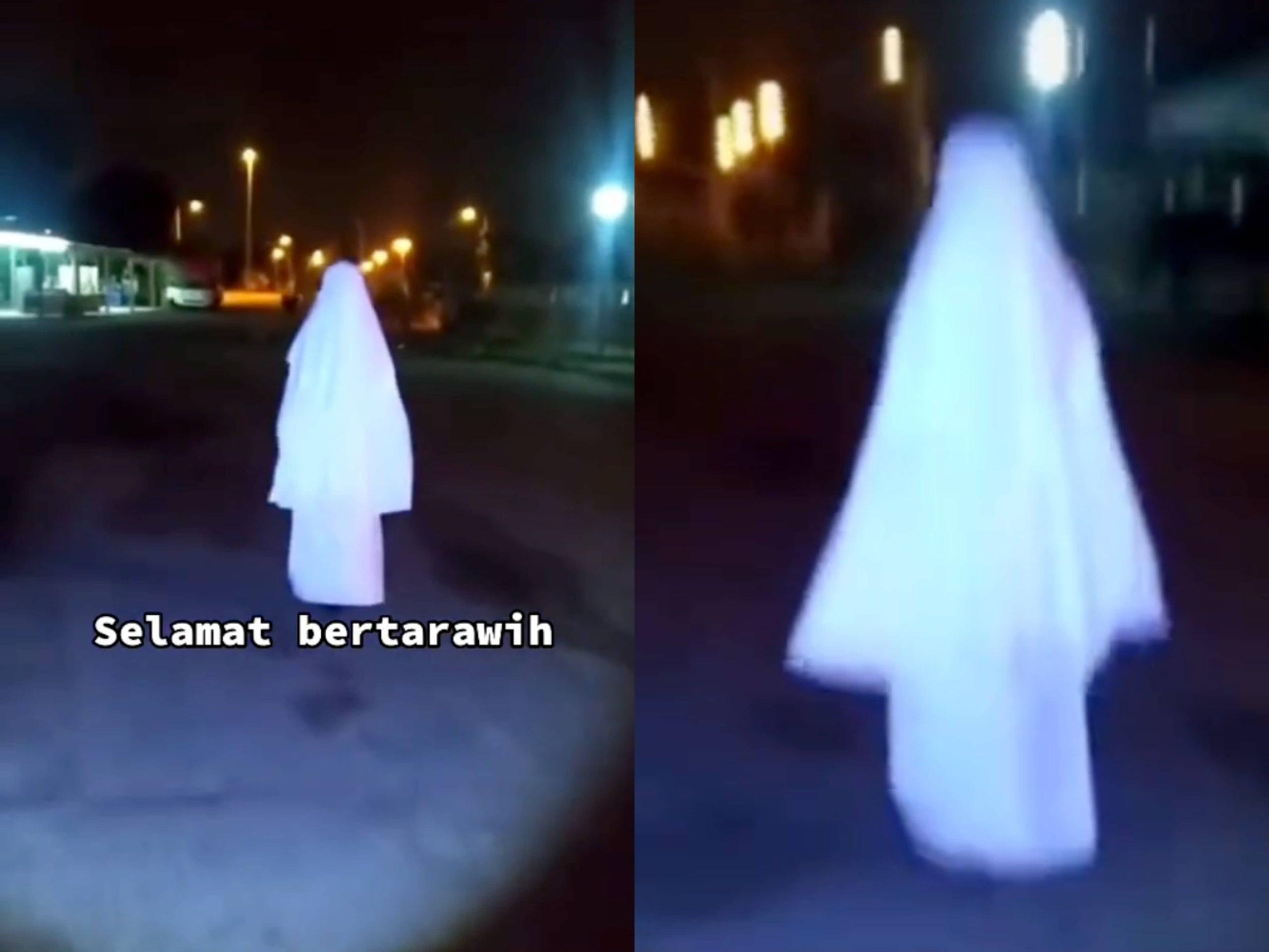 Makcik Pergi Tarawikh Naik Skateboard, 'Nak halau orang dari masjid ke?'