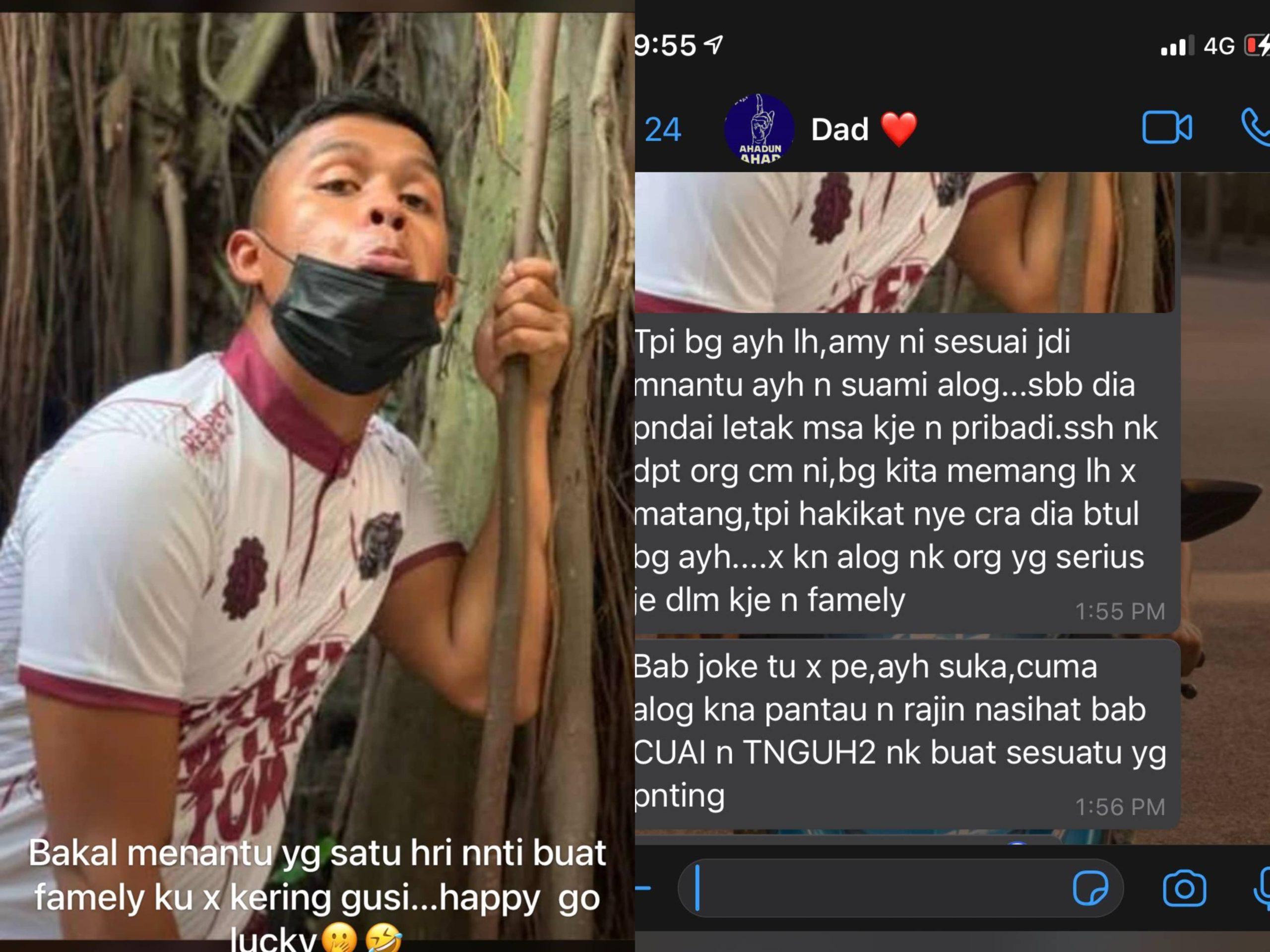 Ayah Berkenan Dengan Boyfriend, Siap Puji Melambung Dan Post Gambar Bakal Menantu Dekat Status WhatsApp