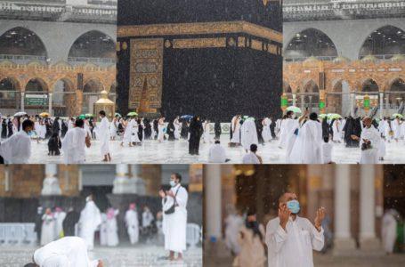 Keadaan Mekah & Pemandangan Masjid Al-Haram Semasa Hujan Lebat, Baru2 Ini!