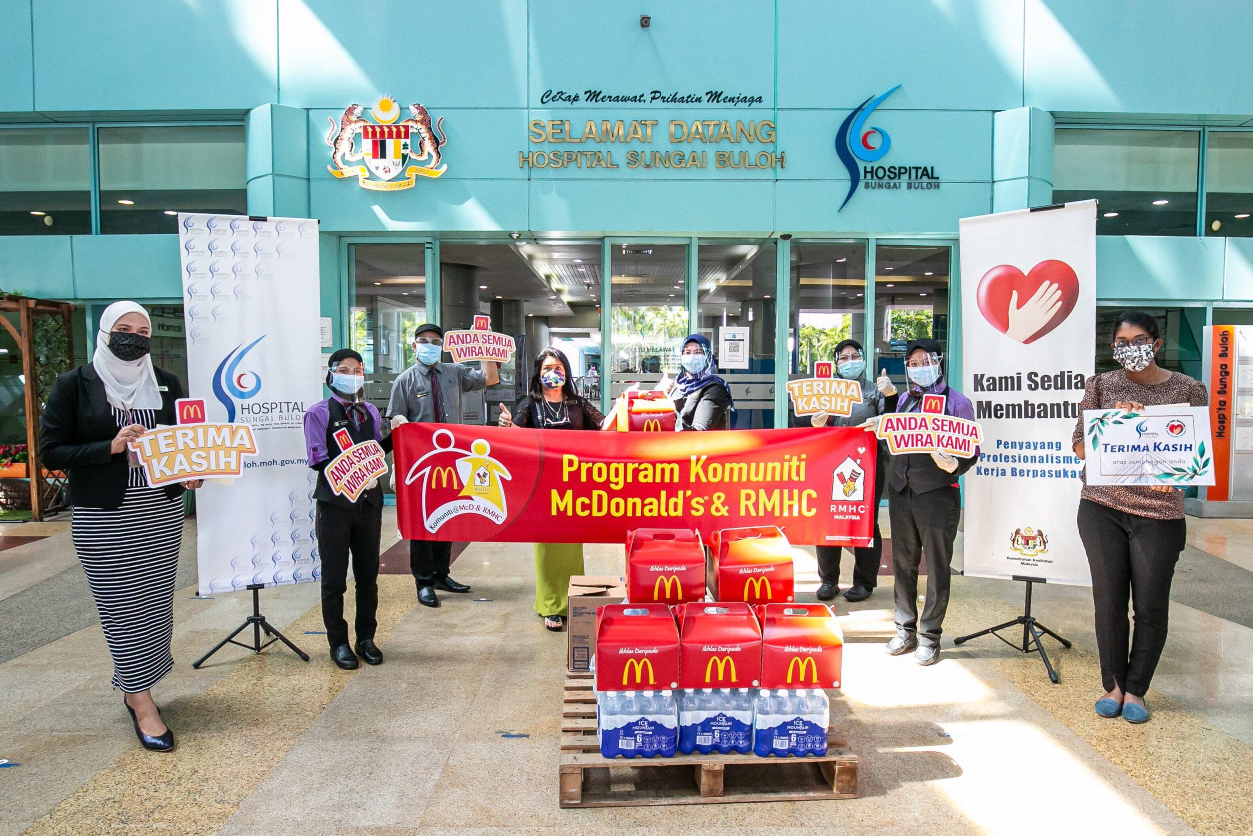 Tajaan Makanan Diteruskan Di Hospital Sungai Buloh Yang Menyokong Malaysia Membendung Covid-19