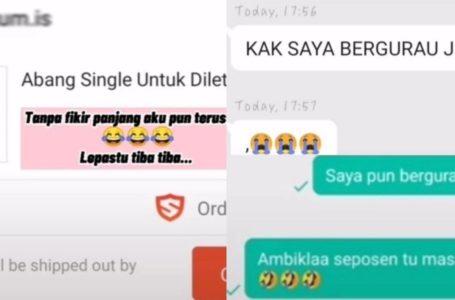 'Abang Single Untuk Diletgo' di Shopee! Bikin Netizen & Pembeli Terhibur Dengan Gurauan Seller!