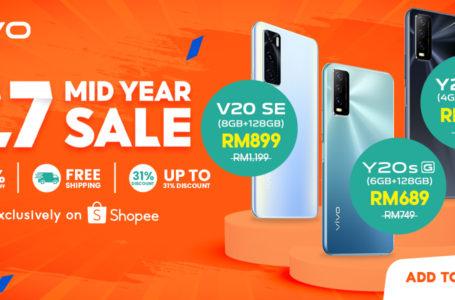 Vivo x Shopee Buat 7.7 'Clearance Sale' Pada 7 Julai Ini! Nikmati Diskaun Sebanyak RM 1,000 & 77% Vaucar Diskaun!